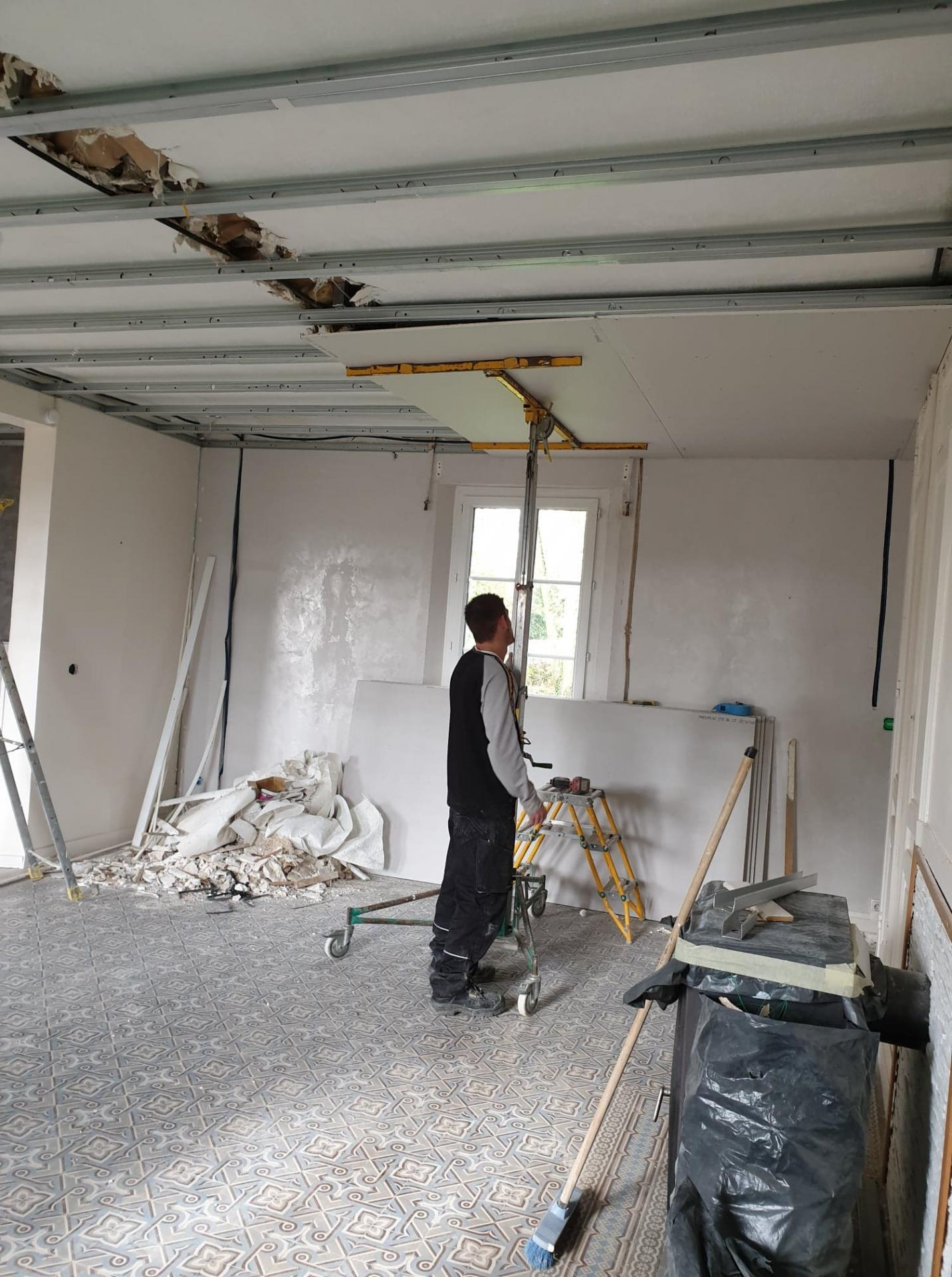 Rénovation cuisine et salle dans une habitation