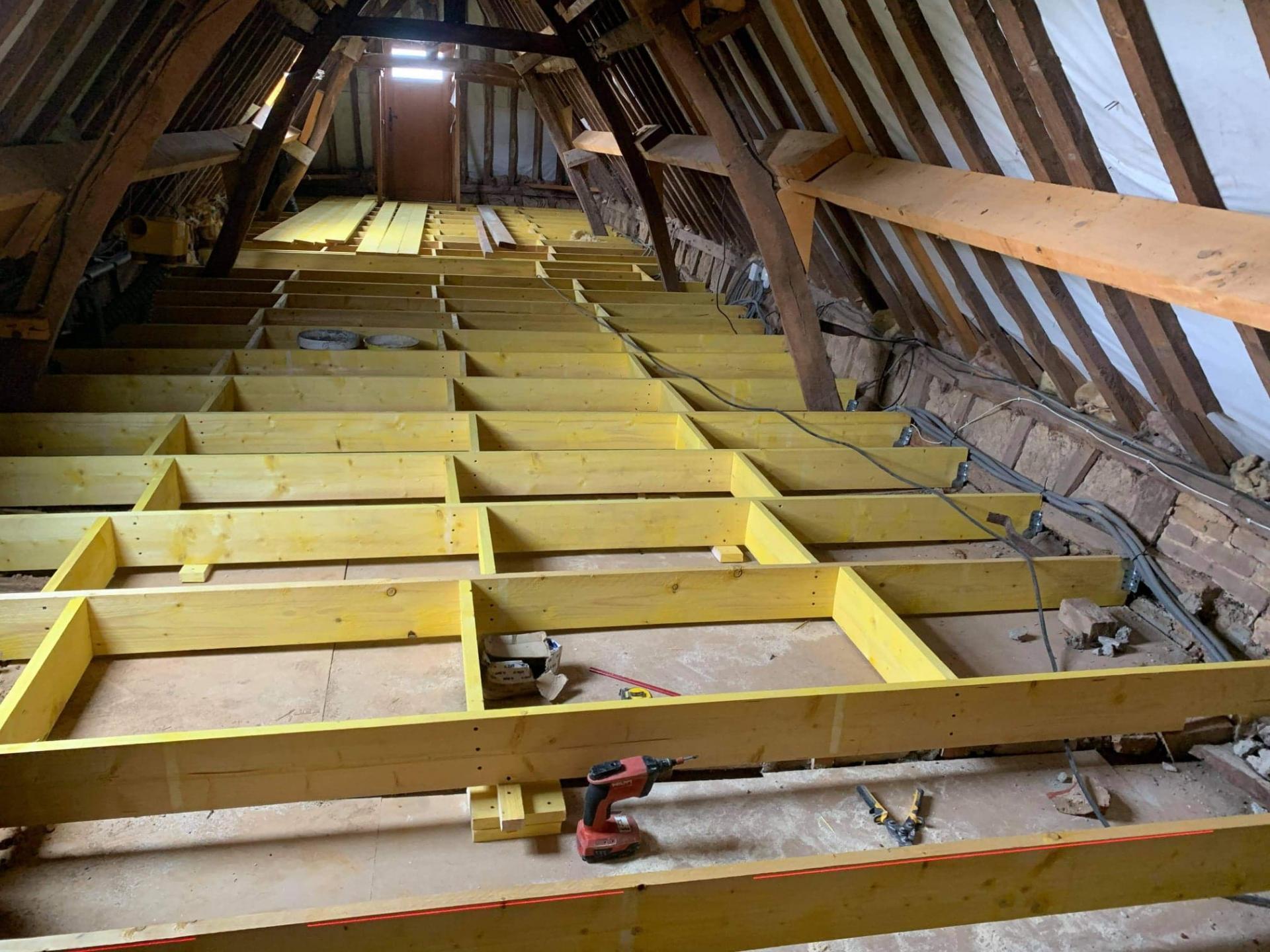 Solivage pose plancher bois plaquistes seine maritime 1