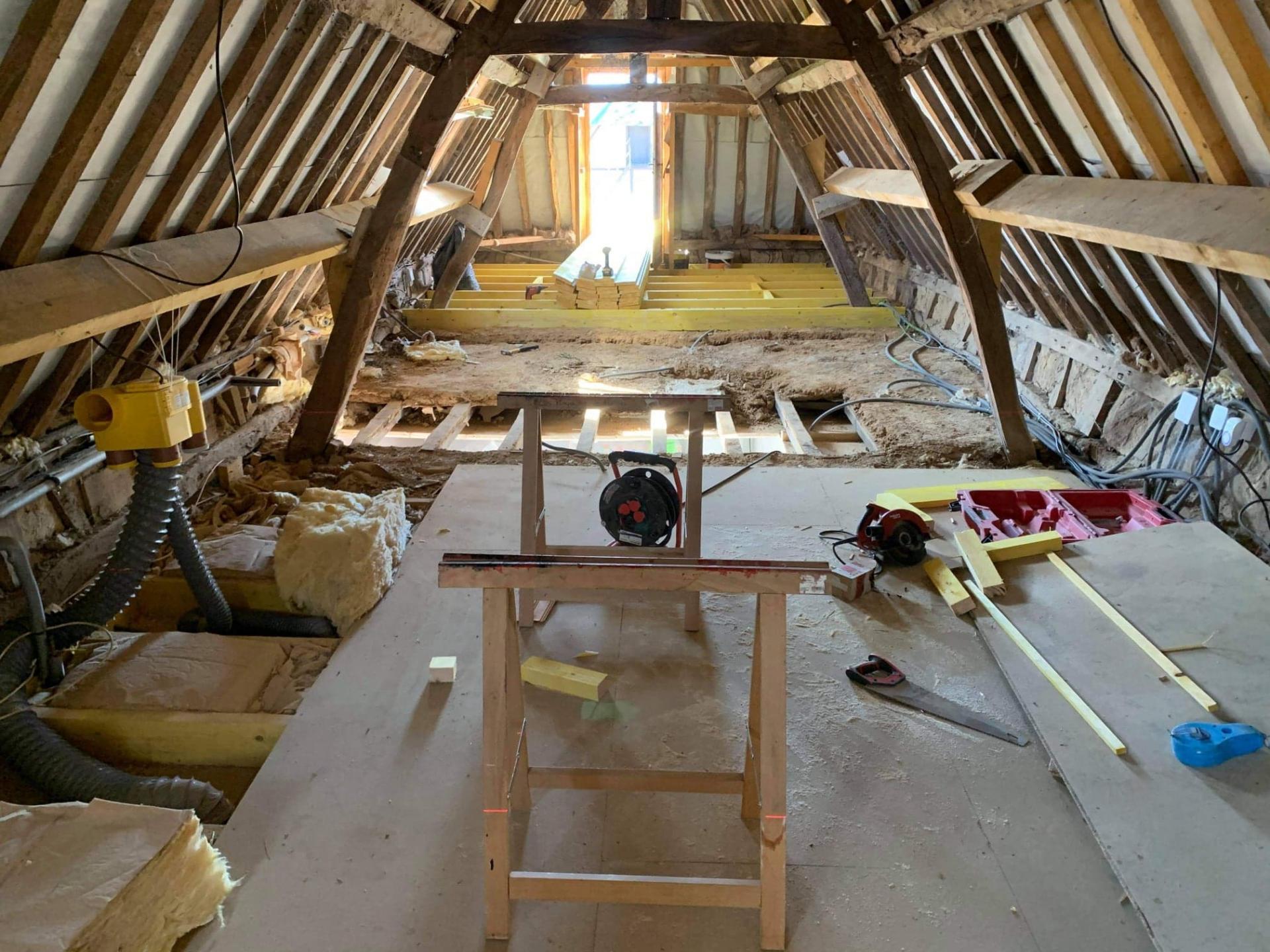Solivage pose plancher bois plaquistes seine maritime 10