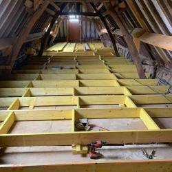 Solivage pose plancher bois plaquistes seine maritime 12