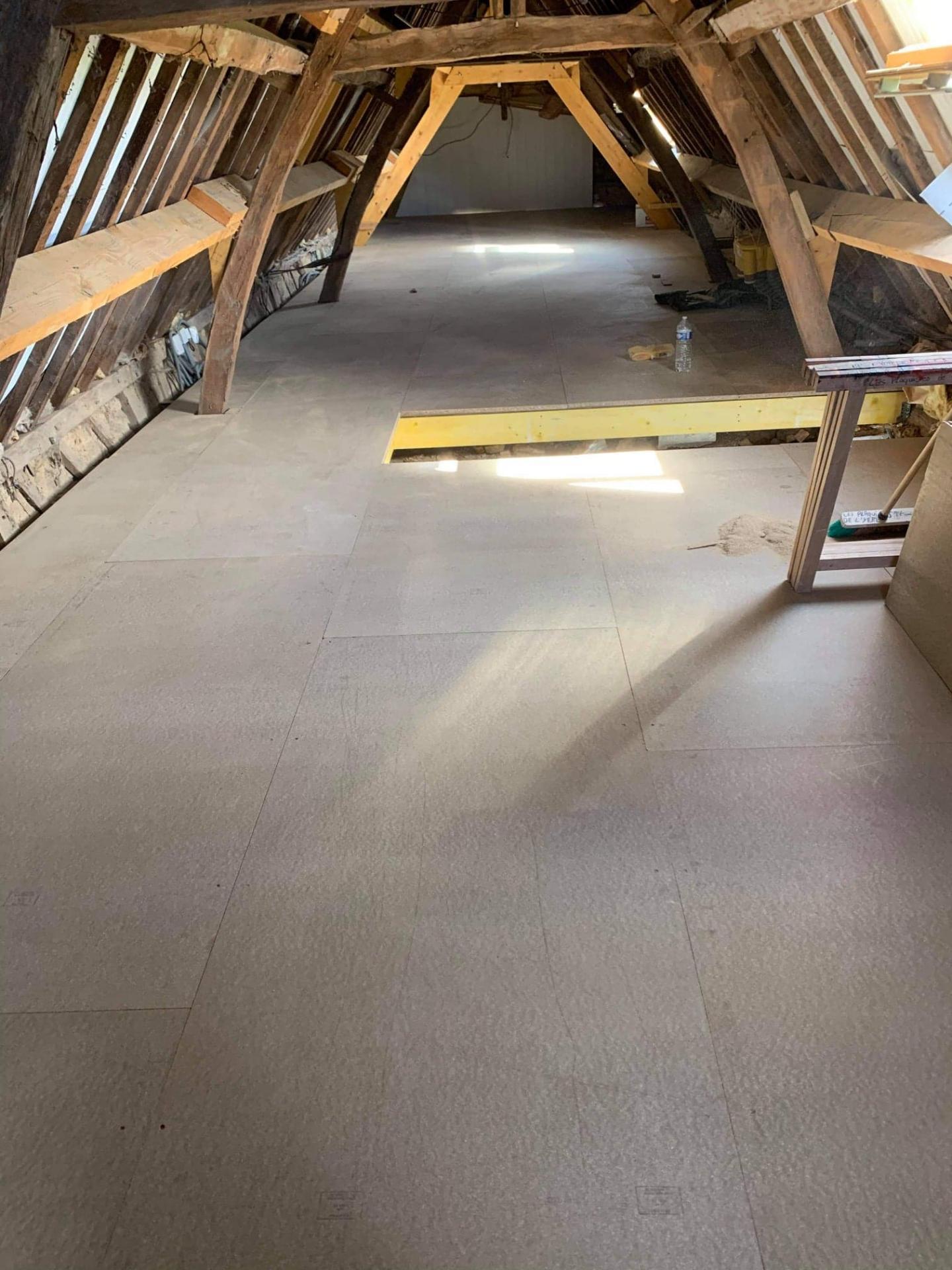 Solivage pose plancher bois plaquistes seine maritime 4