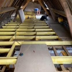 Solivage pose plancher bois plaquistes seine maritime 6