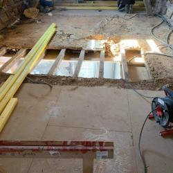 Solivage pose plancher bois plaquistes seine maritime 7