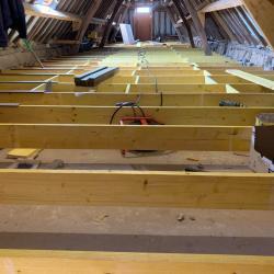Solivage pose plancher bois plaquistes seine maritime 8